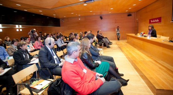 The city Mayor Nuria Marin with the audience